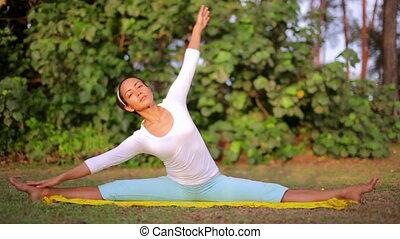Yoga meditation exercise in nature