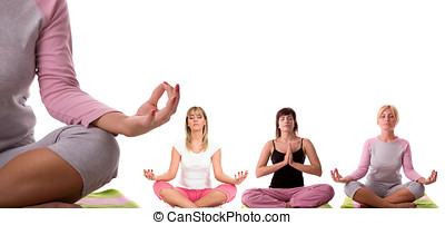 yoga meditation  - Meditation pose collection.