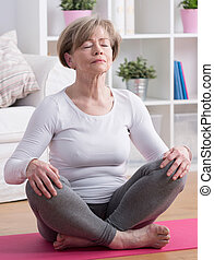 Yoga meditation training