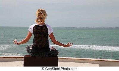 yoga meditation woman