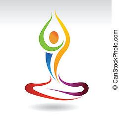 yoga, mental, paz