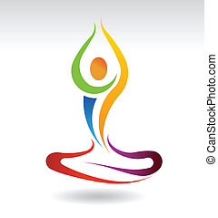 yoga, mentalny, pokój