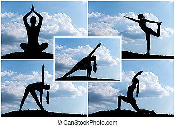 yoga, montaje