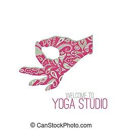 Gyan Mudra (Seal of Knowledge) - Yoga mudra. Gyan Mudra (...