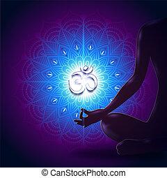 Yoga Mudra Mandala Blue