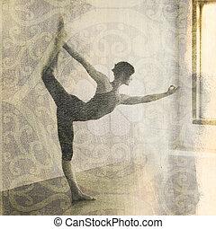 Yoga Natarajasana - Woman in yoga pose Natarajasana or...