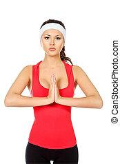yoga, odprężając
