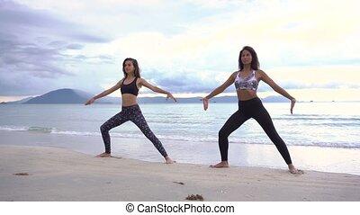 Yoga on the beach