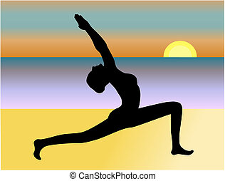 Yoga on the Beach Vector