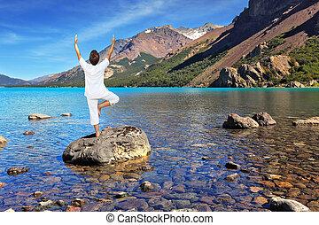 Yoga on the lake