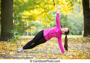 Yoga outdoors: Side Plank Pose