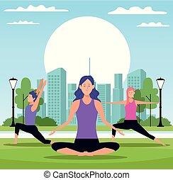 yoga, persone