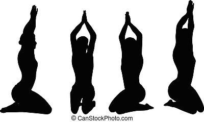 Yoga pose isolated on white background
