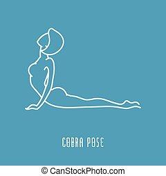 Yoga pose linear icon