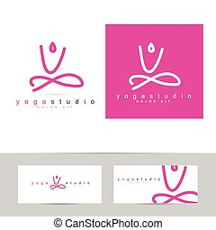 Yoga pose logo
