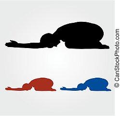 Yoga pose- Shashankasana
