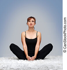 Yoga pose - Relaxing at home