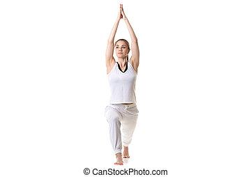 Yoga Pose Warrior 1