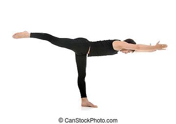 Yoga Pose Warrior 3