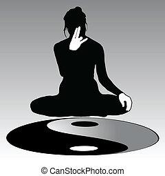 Yoga poses and Yin-Yang