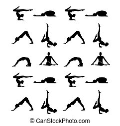 Yoga poses silhouette wallpaper