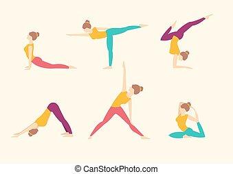 Yoga Poses. Vector illustration