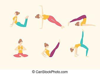 outline yoga vector illustration silhouette