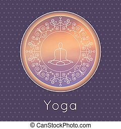 Yoga poster in luxury style. - Vector yoga illustration....