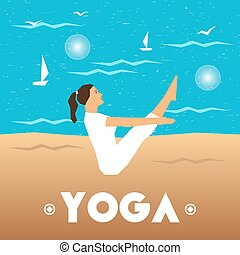 Yoga poster with a girl
