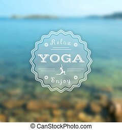 Yoga poster with a sea.