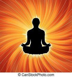 yoga, potere, -, eps, meditation., 8