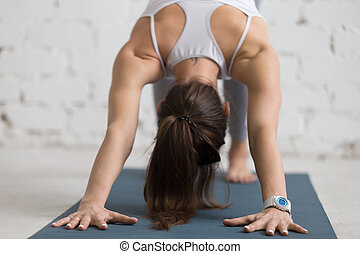 Yoga Practice, close-up