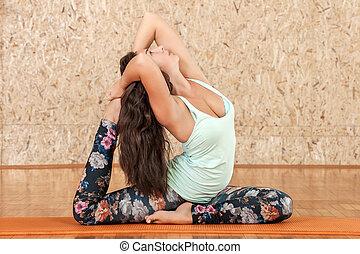 Yoga practicing