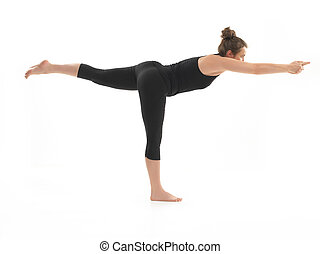 yoga practitioner - young, beautiful girl demonstrating ...