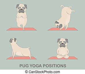 Yoga  pugs set