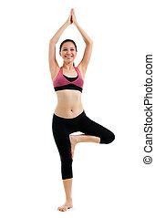 yoga, ragazza