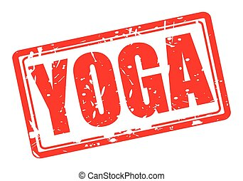 YOGA red stamp text