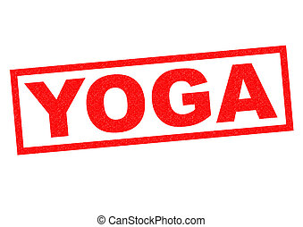 YOGA Rubber Stamp