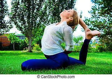 yoga, ruch