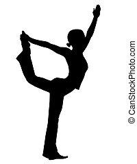 yoga, silhouette