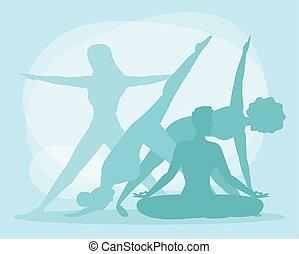 yoga silhouette women