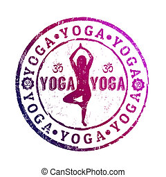 Yoga stamp