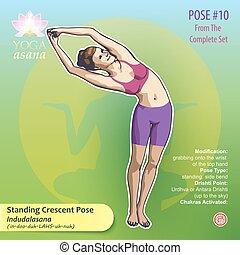 Yoga Standing Crescent Pose 10