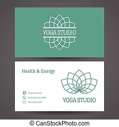 Yoga Studio Vector Business Card Template