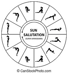 yoga-sun-salutation - Yoga - a set of exercises. The morning...
