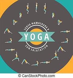 Surya Namaskara B - Yoga. Surya Namaskara B. Sun salutation
