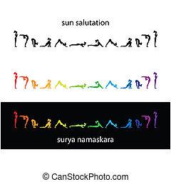 yoga-surya-namaskara - Yoga - a set of morning exercises