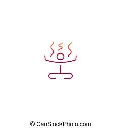 Yoga symbol icon