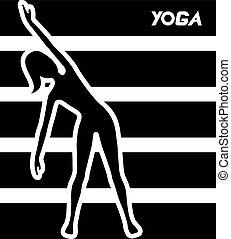 yoga, symbole, conception