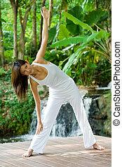 yoga, utomhus